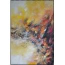 y16009 - 畫作系列 - 油畫 - 油畫抽象系列- 極光系列(手繪)-極光三