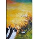 y16010 - 畫作系列 - 油畫 - 油畫抽象系列- 極光系列(手繪)-極光四