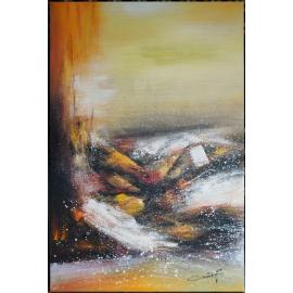 y16011 - 畫作系列 - 油畫 - 油畫抽象系列- 極光系列(手繪)-極光五