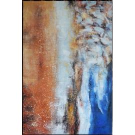 y16014 - 畫作系列 - 油畫 - 油畫抽象系列- 極光系列(手繪)-極光八