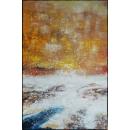 y16015 - 畫作系列 - 油畫 - 油畫抽象系列- 極光系列(手繪)-極光九