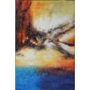y16016 - 畫作系列 - 油畫 - 油畫抽象系列- 極光系列(手繪)-極光十