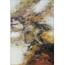 y16019 - 畫作系列 - 油畫 - 油畫抽象系列- 極光系列(手繪)-極光十三