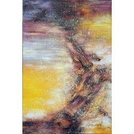 y16021 - 畫作系列 - 油畫 - 油畫抽象系列- 極光系列(手繪)-極光十五