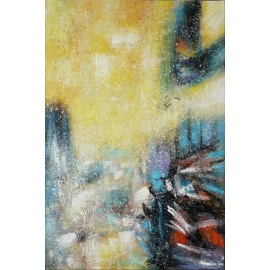 y16022 - 畫作系列 - 油畫 - 油畫抽象系列- 極光系列(手繪)-極光十六