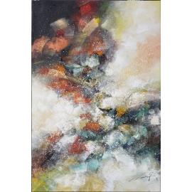 y16023 - 畫作系列 - 油畫 - 油畫抽象系列- 極光系列(手繪)-極光十七