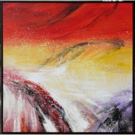 y16026 - 畫作系列 - 油畫 - 油畫抽象系列- 極光系列(手繪)-極光二十