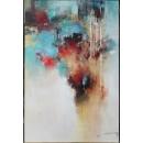 y16027 - 畫作系列 - 油畫 - 油畫抽象系列- 抽象系列(手繪)-飄渺