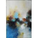 y16028 - 畫作系列 - 油畫 - 油畫抽象系列- 抽象系列(手繪)-遙望