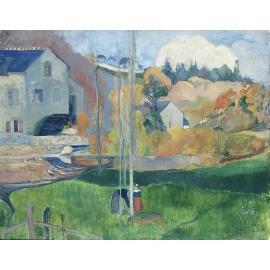 保羅•高更《不列塔尼的風景》- y16139 複製畫-複製畫風景系列