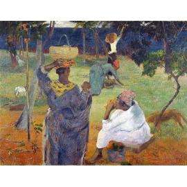保羅•高更《馬提尼克的芒果樹》- y16140 複製畫-複製畫人物系列