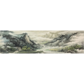 y16308 - 陳亮 國畫山水 - 畫作系列-國畫-國畫山水