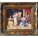 貴族妝伴(雕花框) y16386 -複製畫-複製畫人物系列.(可客製尺寸)