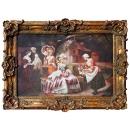 貴族社交(雕花框) y16388 -複製畫-複製畫人物系列.(可客製尺寸)