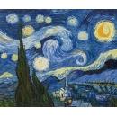 y00780 複製畫-複製畫風景系列 -梵谷~ 星夜