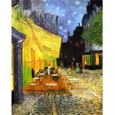 y15916複製畫-複製畫風景系列-梵谷~夜晚露天咖啡座