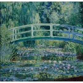 y15917複製畫-複製畫風景系列-莫內~睡蓮和日本橋