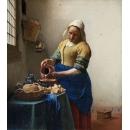 y15922複製畫-複製畫人物系列-維梅爾-倒牛奶的女僕