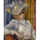 y15944複製畫-複製畫風景系列-雷諾瓦 戴帽女子