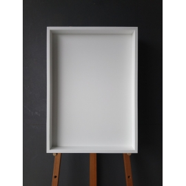y15985裝框裱褙相框系列- 裱框成品參考-白色框