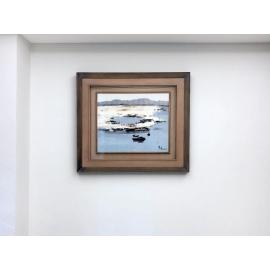趙虎燮油畫-小船+(手工框)-y16162 - 裝框裱褙相框系列- 裱框成品參考