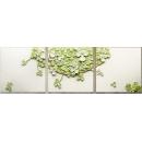 立體浮雕版畫-三葉草-綠/3入一組-y15302-畫作系列