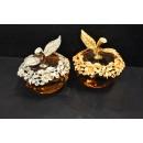 琉璃(金、銀)蘋果(y14510 .琉璃水晶-水晶飾品系列-琉璃(金、銀)蘋果)