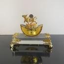 大元寶牛 y16384 -琉璃水晶玻璃-水晶飾品系列(十二生肖金牛擺件.招財.一元復始 萬象更新)