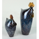 藝術玻璃公雞.母雞(一對) y13559 水晶飾品系列