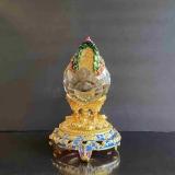 Y16367-特大水晶雞/對-琉璃水晶玻璃-水晶飾品系列