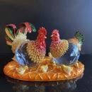 Y16368 -小水晶雞全家福/琉璃水晶玻璃-水晶飾品系列