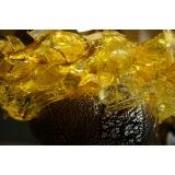 y15682  琉璃水晶玻璃 - 玻璃飾品系列 -茶銀錦鯉聚寶瓶