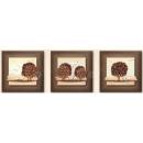 立體浮雕版畫-雲淡風輕-金/3入一組-y15299-畫作系列