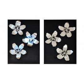 y14014 金工飾品設計- 立體金工系列-花型壁飾- 大 (共3種尺寸)