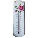 花圖溫度計 y13534 時鐘.溫度計.鏡子 溫度計.壁掛鐘