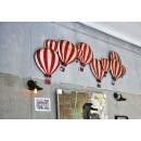 大熱氣球群璧裝飾_紅白條紋款 (y14626 立體壁飾 其它)