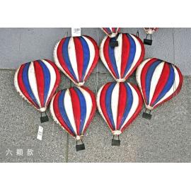 熱氣球壁裝飾_三色條紋六顆款 (y14637 立體壁飾 其它)