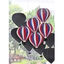 熱氣球群壁裝飾_三色條紋五顆款 (y14636 立體壁飾 其它)