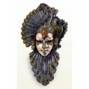 y12403 威尼斯面具壁飾-嫵媚花