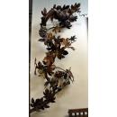 y14252 立體壁飾 - 花.植物系列 - 葡萄樹與巴戈鳥