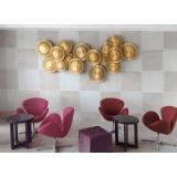 y14427 立體壁飾- 抽象系列 - 棕櫚葉壁飾(金箔) 共6款顏色
