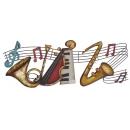 音符樂器壁飾(y14833立體壁飾 音樂舞蹈系列)