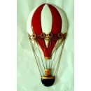 熱氣球壁裝飾-紅白條紋單顆款 (y14834 立體壁飾 其它)