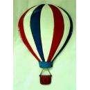 熱氣球壁裝飾-紅白藍條紋單顆款 (y14835 立體壁飾 其它)