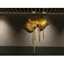 金色扇形壁飾 y15495 立體壁飾- 抽象系列