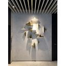 y16125 立體壁飾- 抽象系列 - 船型陶瓷壁飾7大5小 / 組