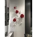 陶瓷玫瑰組合壁飾/組  y16126 立體壁飾- 花、植物系列