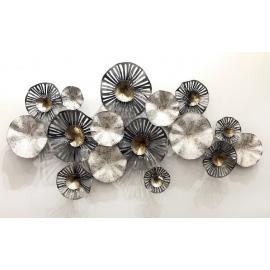 造型圓圈鐵藝壁飾- y16240 鐵材藝術 - 鐵雕壁飾系列 / 立體壁飾-抽象系列