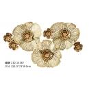 立體鐵花鐵藝壁飾- y16241 鐵材藝術 - 鐵雕壁飾系列 / 立體壁飾-花、植物系列