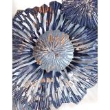 抽象荷葉鐵藝壁飾- y16357 鐵材藝術 - 鐵雕壁飾系列 / 立體壁飾-花、植物系列(美式背牆壁掛.歐式客廳背景牆面裝飾壁飾)